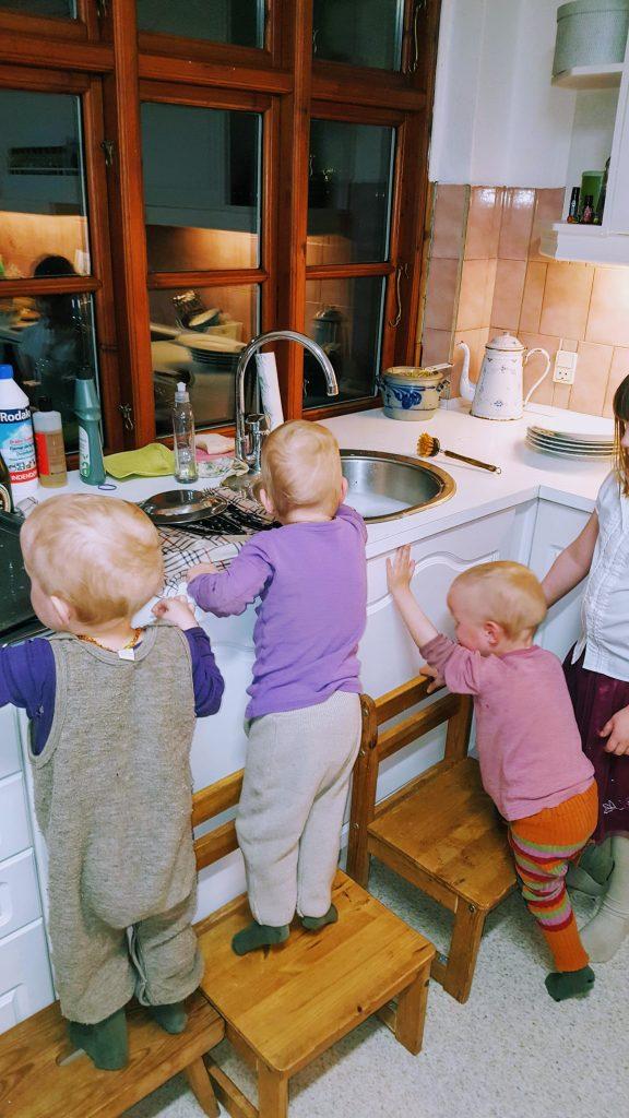 Flytning med 6 børn - opvask